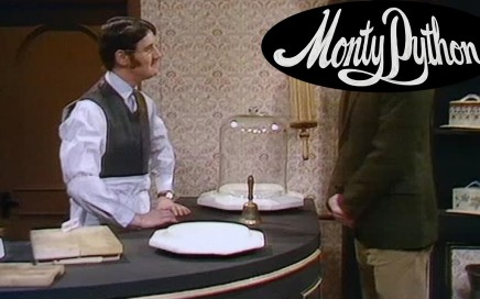 Monty Python with John Cleese Cheese Shop Skit - Philosophy